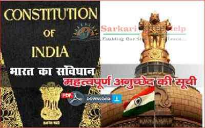 indian constitution articles