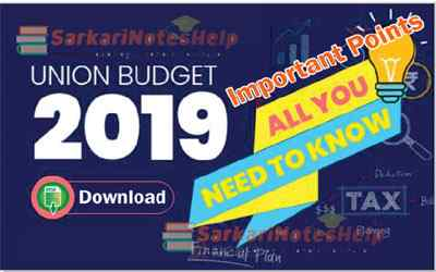 Union Budget 2019 India