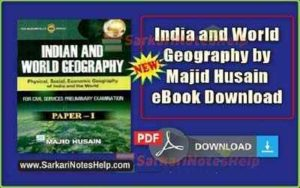 Geography of India By Majid Husain Book